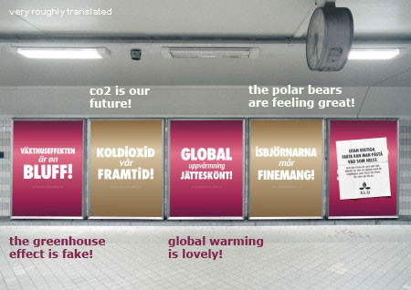 Swedish campaign against global warming deniers