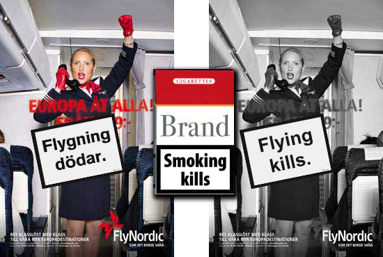Flying Kills - Guerrilla campaign from Swedish climate activists