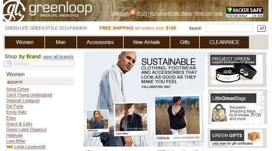 Sustainable fashion from Greenloop
