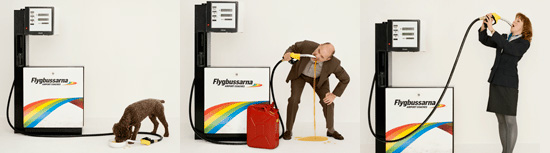 Advertising campaign from Flygbussarna