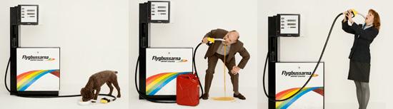 Advertising campaign from Flygbussarna