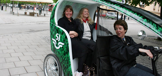 Pedal-Powered Ecocabs comes to Stockholm