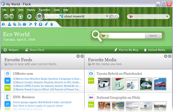 "Browse a Little ""Greener\"" With the Flock Eco-Edition Web Browser"