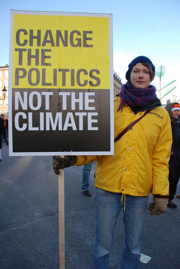 Change the politics, not the climate!