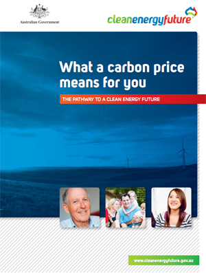 """What a carbon price means for you. The pathway to a clean energy future."""