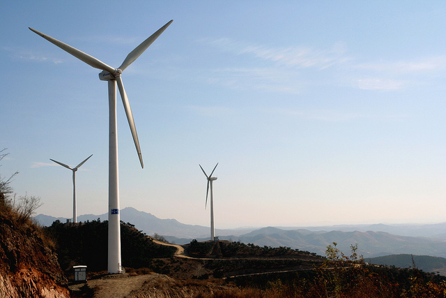 The Tangshanpeng wind farm in China.