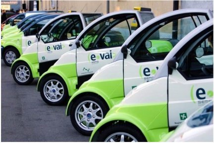 Electric car sharing program in the Italian city of Milan.