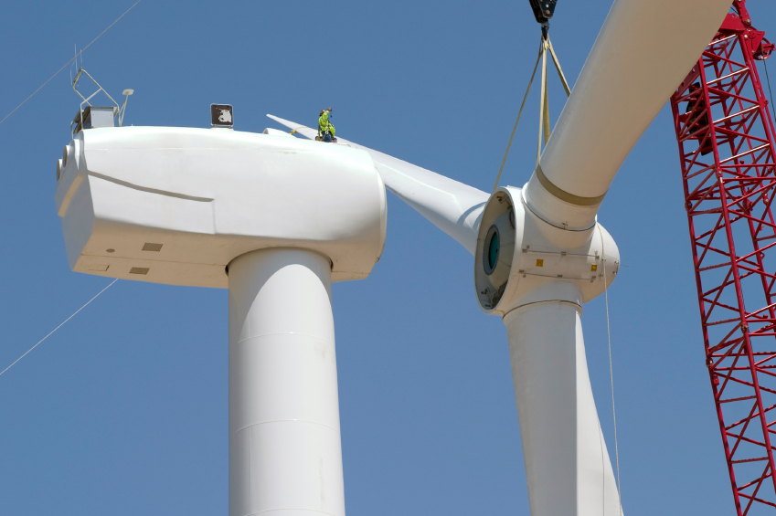 wind power under construction