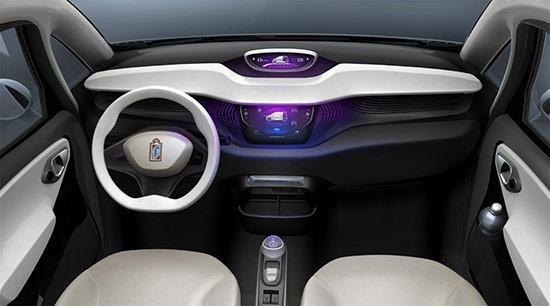 BlueCar interior
