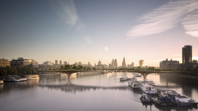 Garden Bridge in Westminster, London