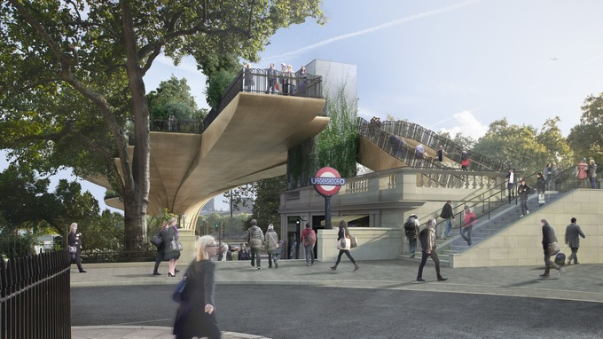 Garden Bridge - underground station