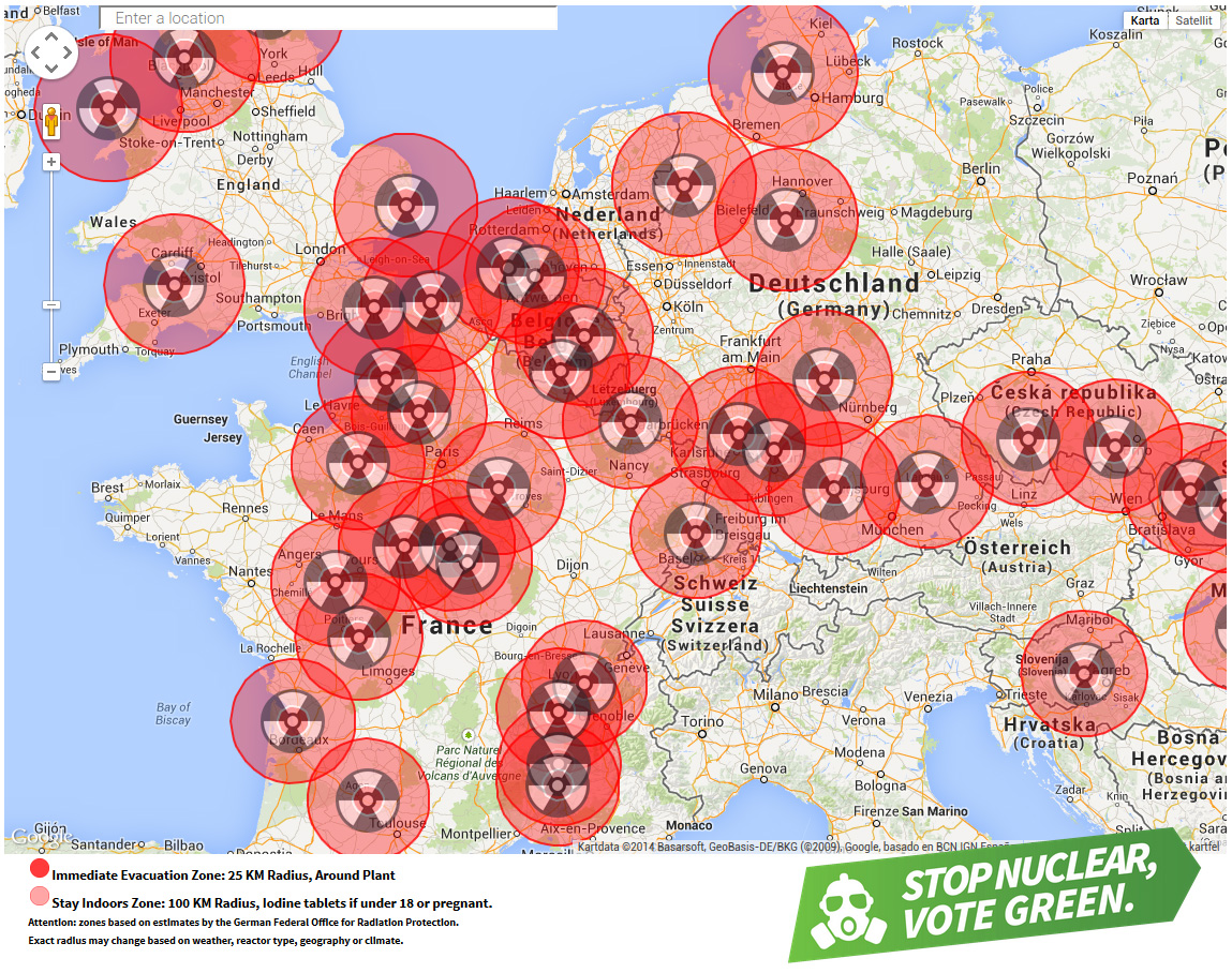 Nuclear risk map