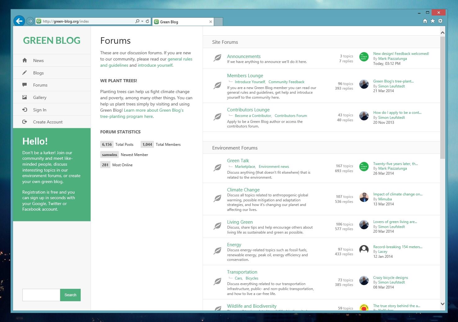 New Green Blog Design