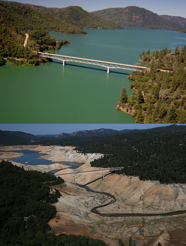 Lake Oroville 2011 and 2014