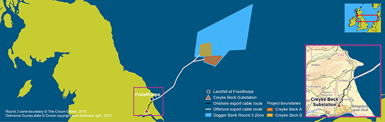 The Dogger Bank Creyke Beck offshore windfarm project