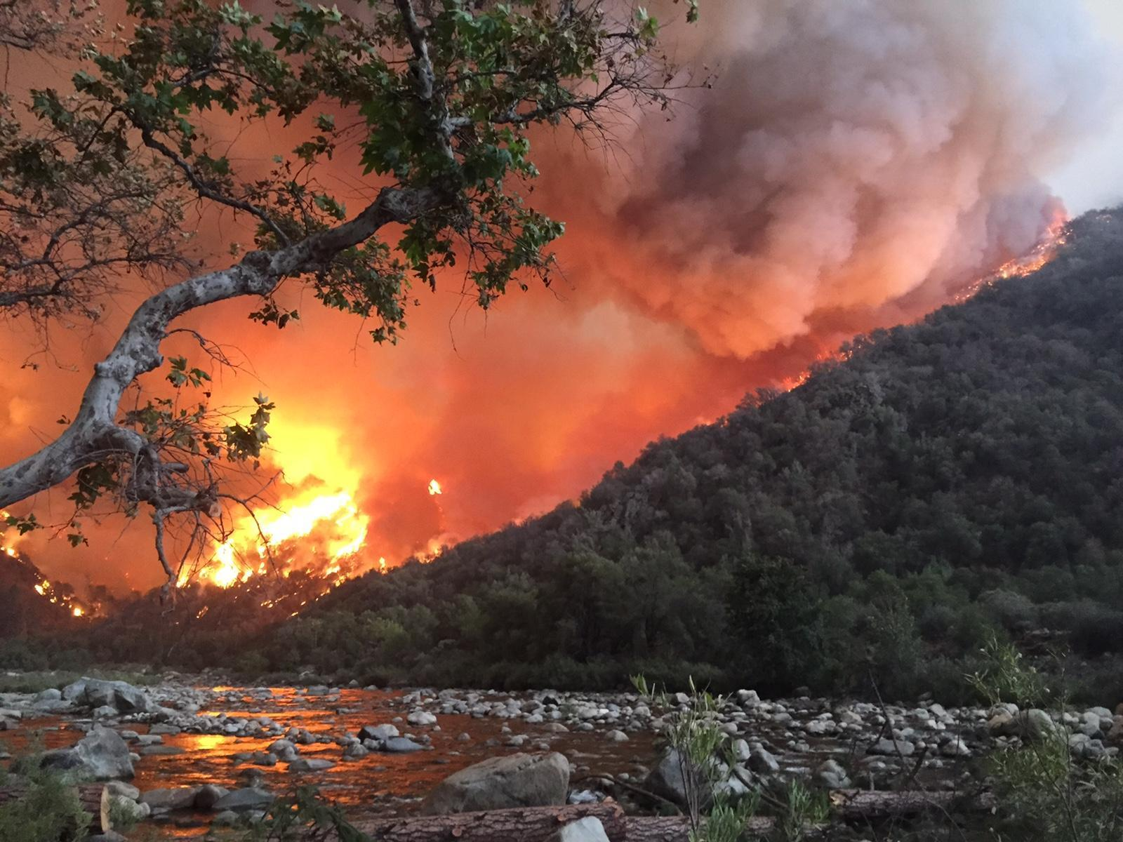 california landscape scorched as wildfires blaze on global warming